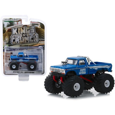 1978 Ford F250 >> 1978 Ford F 250 Monster Truck Above N Beyond Blue Kings Of Crunch Series 4 1 64 Diecast Model Car By Greenlight