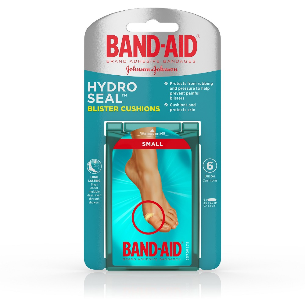 Band-Aid Brand Hydro Seal Bandages Blister Cushion -Small - 6ct
