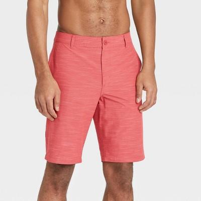 "Men's 10.5"" Hybrid Swim Shorts - Goodfellow & Co™ Red"