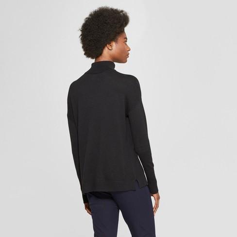42fb12fc4bb Women s Turtleneck Sweater - A New Day™ Black S   Target