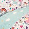 5pc Full/Queen Unicorn Heart Bedding Set with Unicorn Throw Pillow White - Lush Dcor - image 2 of 4