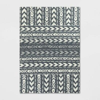 7'X10' Indoor/Outdoor Geometric Woven Area Rug Gray - Threshold™