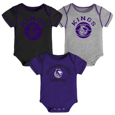 NBA Sacramento Kings Baby Boys' Rookie Bodysuit Set 3pk