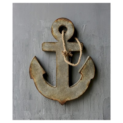 Metal Anchor Distressed Wall Art