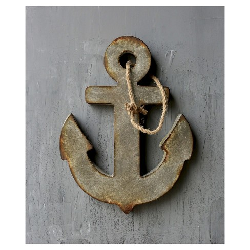 Metal Anchor Distressed Wall Art - image 1 of 4