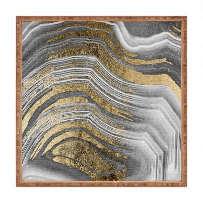 Marta Barragan Camarasa Abstract Paint Modern Square Bamboo Tray - Deny Designs
