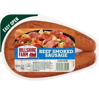 Hillshire Farm Beef Smoked Sausage Rope - 12oz