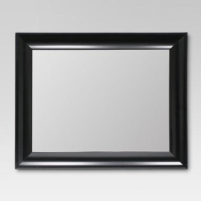 Rectangle Flat Decorative Wall Mirror Black - Threshold™