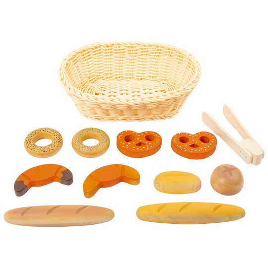 Small Foot Wooden Toys Children's Bread Basket Playset - 12pc image number null