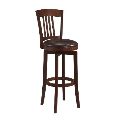 "31"" Canton Swivel Barstool Wood/Brown - Hillsdale Furniture"