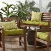 Set of 2 Shoreham Ikat Outdoor Rectangle Throw Pillows - Kensington Garden - image 3 of 4