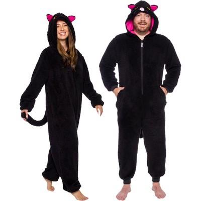 FUNZIEZ! - Cat  Adult Unisex Slim Fit Novelty Union Suit