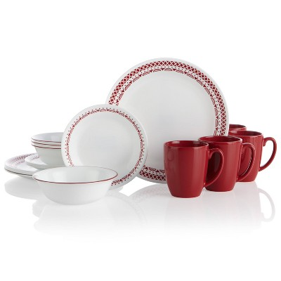 Corelle Classic 16pc Glass Cordoba Dinnerware Set