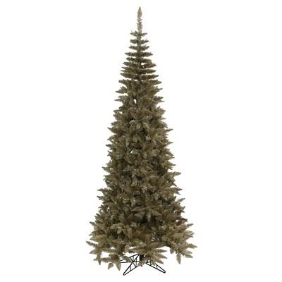 Vickerman Antique Champagne Fir Artificial Christmas Tree