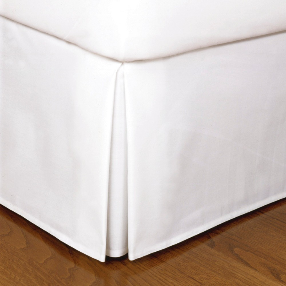 Image of White Tailored Microfiber 14 Bed Skirt (Queen)