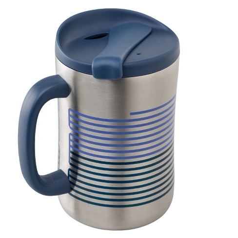 Aladdin Stainless Steel Insulated Coffee Travel Mug 16oz Silver