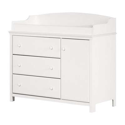 Cotton Candy Changing Table with Station - Pure White - South Shore