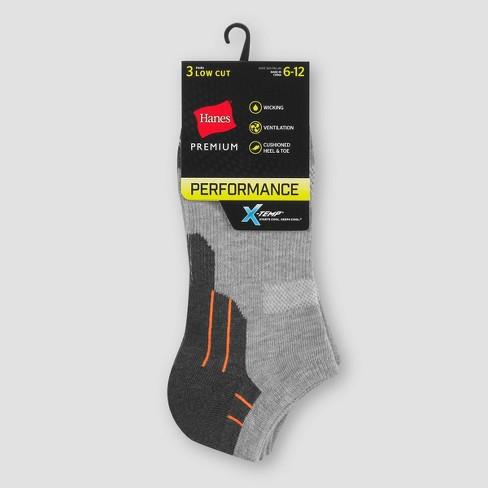 Men's Hanes Premium Performance Low Cut Socks 3pk - Colors May Vary 6-12 - image 1 of 2