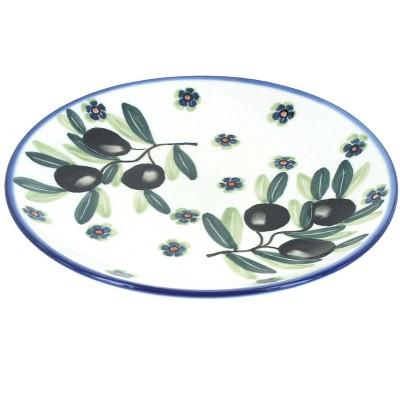 Blue Rose Polish Pottery Kalamata Dessert Plate