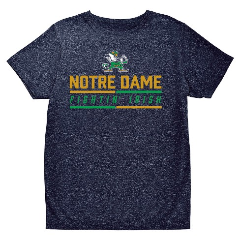 NCAA Boys' Hail Mary Bi-Blend Crew Neck T-Shirt Notre Dame Fighting Irish - image 1 of 1