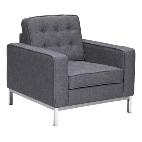 Chandler Contemporary Sofa Chair Dark Gray - Armen Living - image 1 of 4