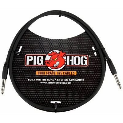 """Pig Hog Instrument Cable 1/4"""" TRS to 1/4"""" TRS (3 ft.)"""