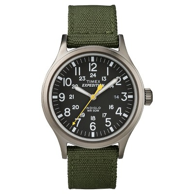 Men's Timex Expedition Scout Watch with Nylon Strap - Gray/Black/Green T49961JT