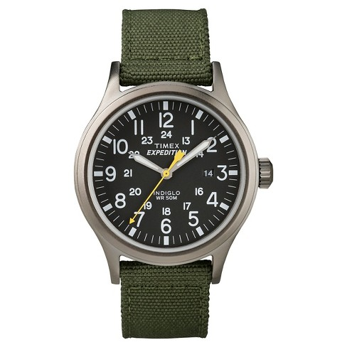 Men's Timex Expedition Scout Watch with Nylon Strap - Gray/Black/Green T49961JT - image 1 of 1