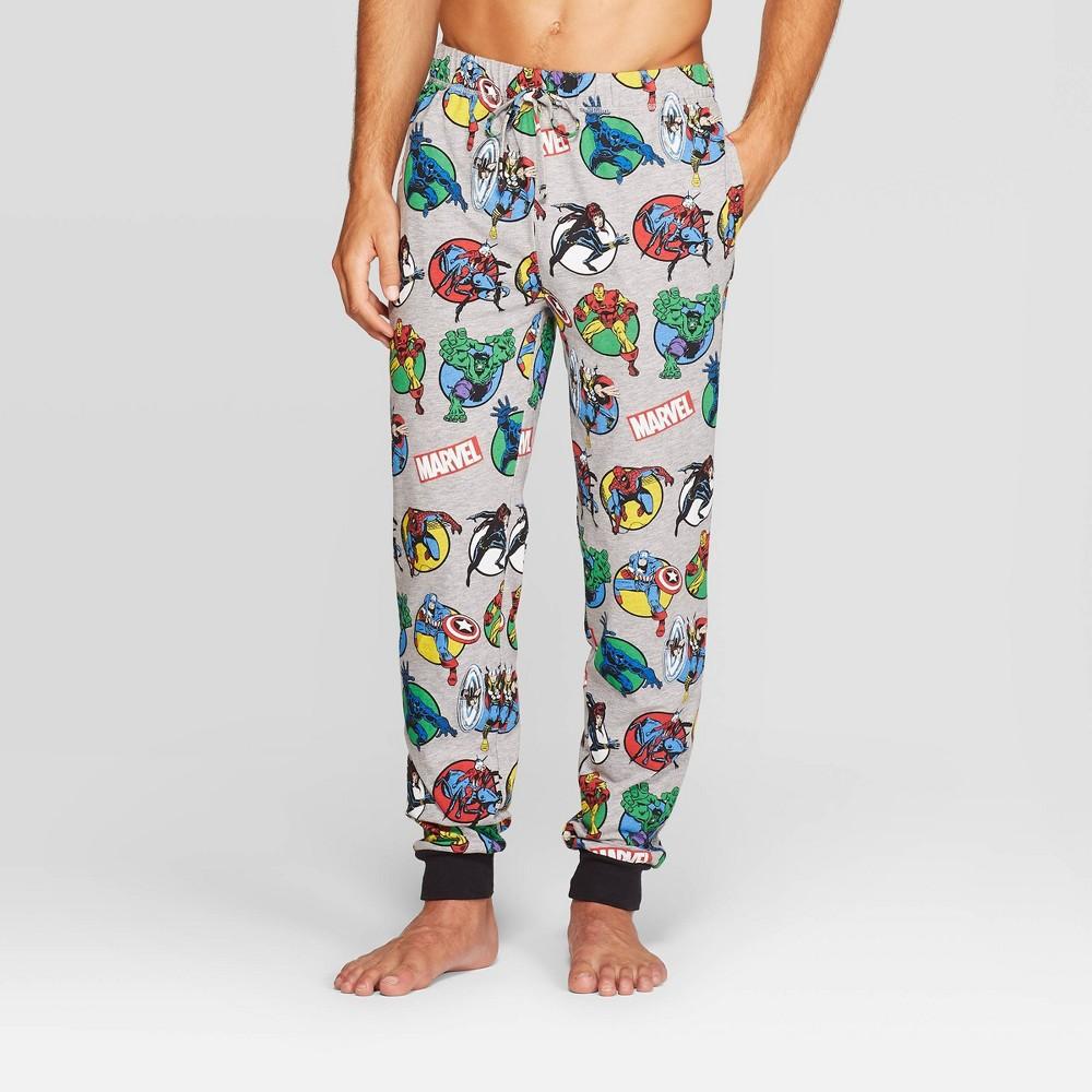 Image of Men's Marvel Pajama Pants - Light Gray XL