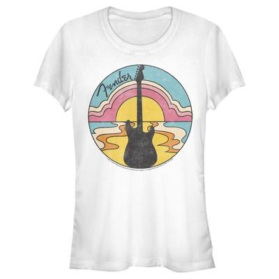 Junior's Fender 70s Guitar Silhouette T-Shirt