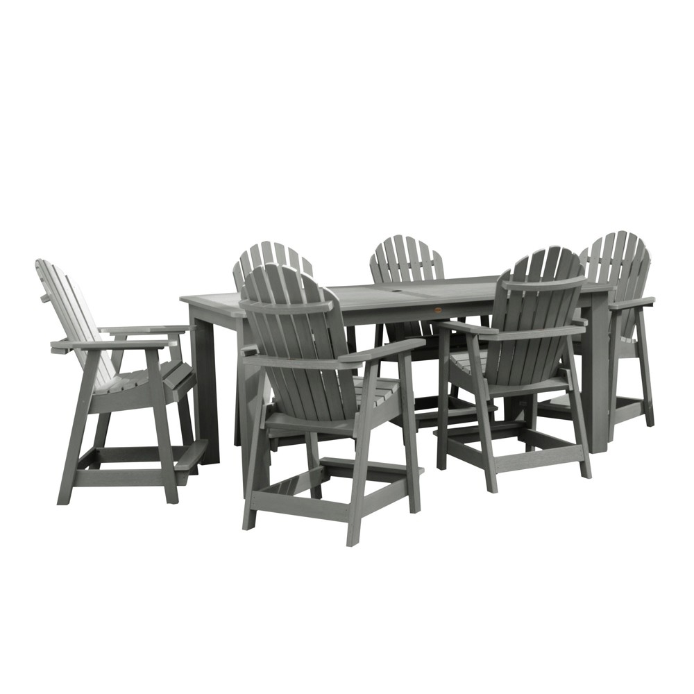 "Image of ""Hamilton 7pc Rectangular Counter Height Dining Set 84"""" X 42"""" Coastal Teak Gray- Highwood, Coastal Brown Gray"""
