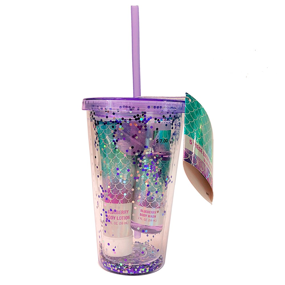 Blueberry Tween Bath Tumbler Gift Set - 5pc - Target Beauty