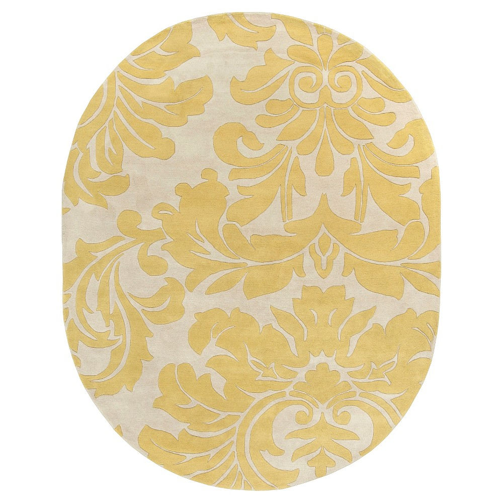 Vlore Area Rug - Wheat, Cream - (8' x 10' Oval) - Surya