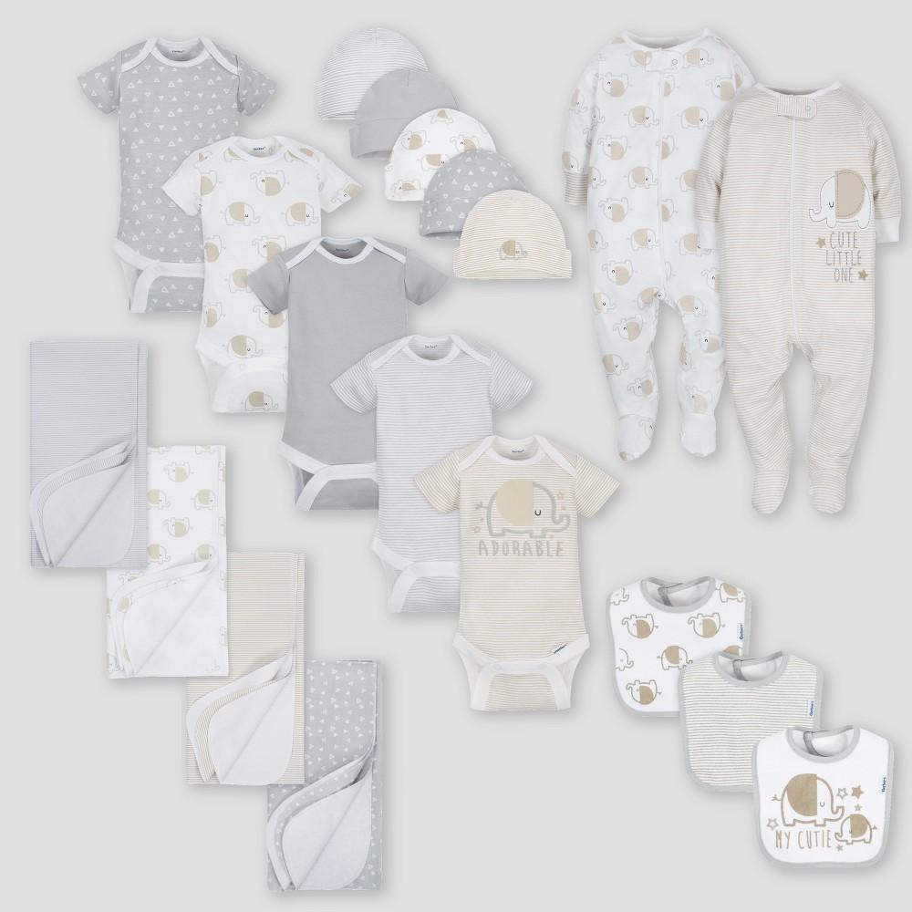 Gerber Baby's 19pc Elephant Layette Gift Set - Gray 0-3M