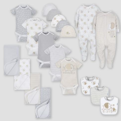 Gerber Baby 19pc Elephant Layette Gift Set - Gray 0-3M ...