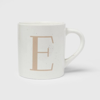 16oz Stoneware Monogram Mug E - Threshold™