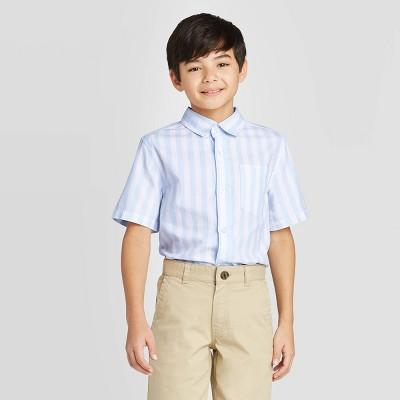 Boys' Short Sleeve Button-Down Shirt - Cat & Jack™ Blue