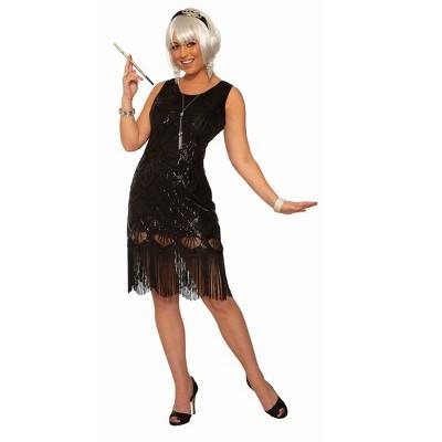Forum Novelties Women's Black Fringe Flapper Costume