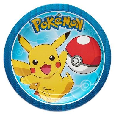 "Pokemon 7"" Paper Plates - 8ct"