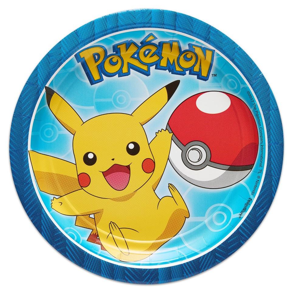 "Image of ""Pokemon 7"""" Paper Plates - 8ct"""