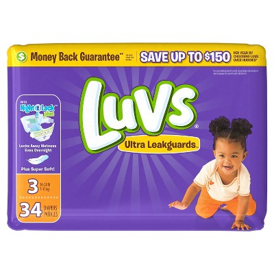 Luvs Disposable Diapers Jumbo Pack - Size 3 (34ct)