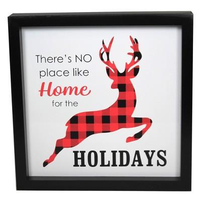 """Christmas 9.5"""" Buffalo Plaid  Sign Plaque Holidays  -  Wall Sign Panels"""