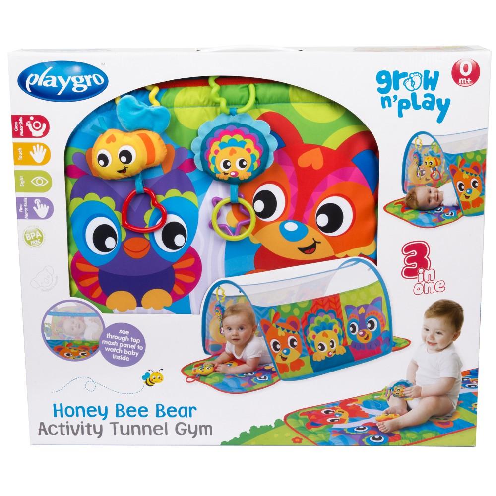Playgro Honey Bee Bear Activity Tunnel Gym, Multi-Colored