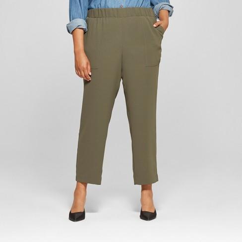 98f7df230ef01 Women s Plus Size Soft Utility Pants - Ava   Viv™   Target