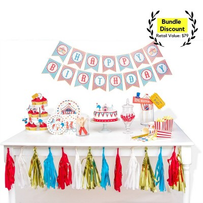 118pc Carnival Party Supplies Great Value Ultimate Kit