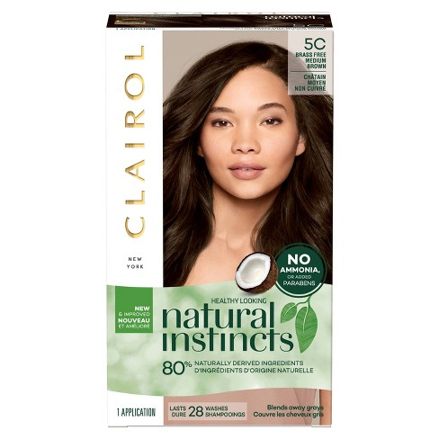 Clairol Natural Instincts Hair Color Brass Free 5c Medium Brown 1