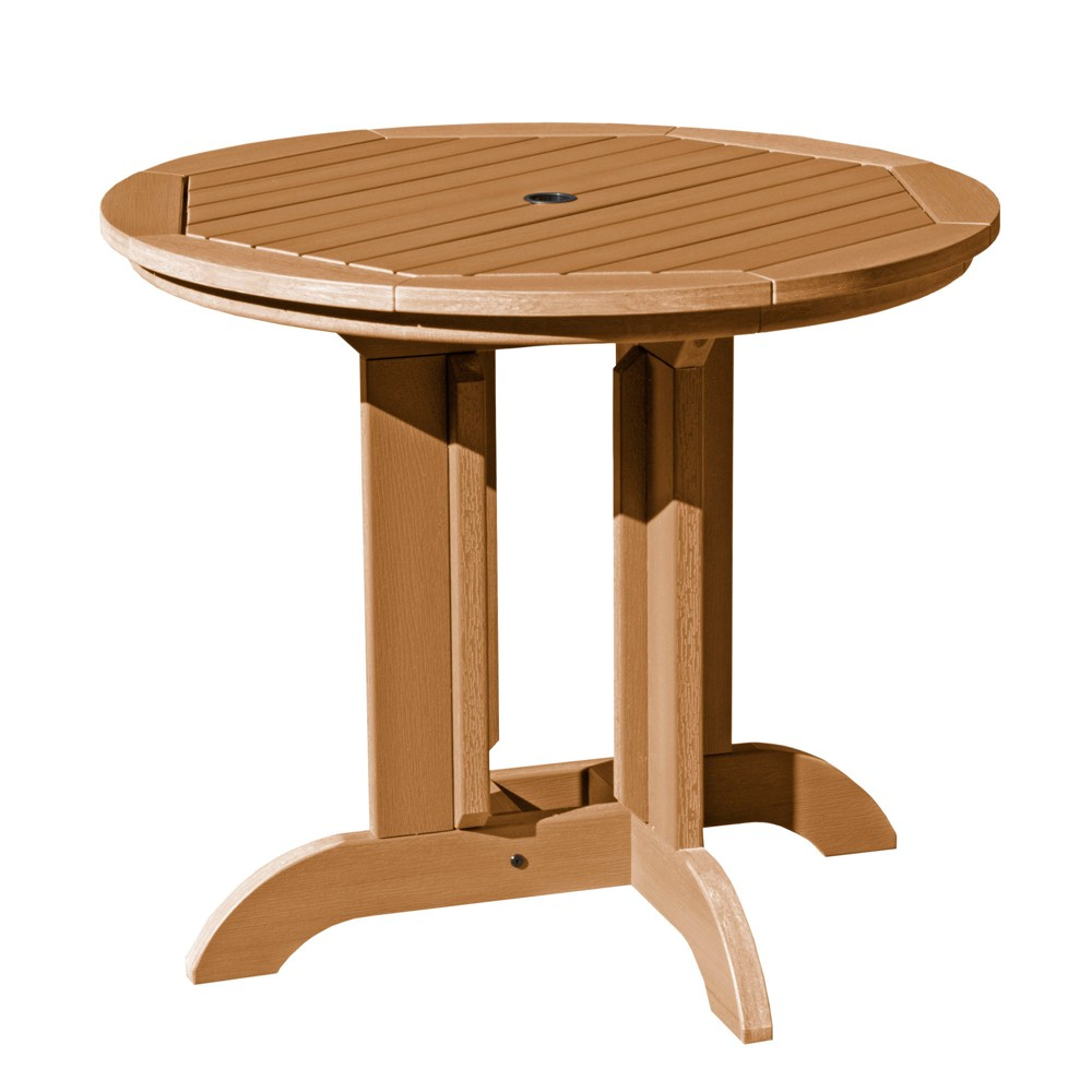 """Image of """"36"""""""" Round Patio Dining Table Toffee - highwood"""""""