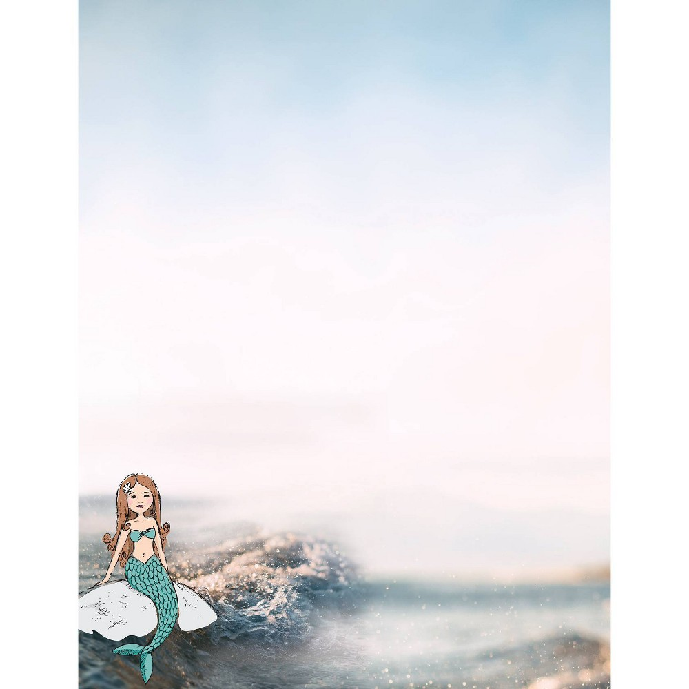 Image of 80ct Magical Mermaids Letterhead White