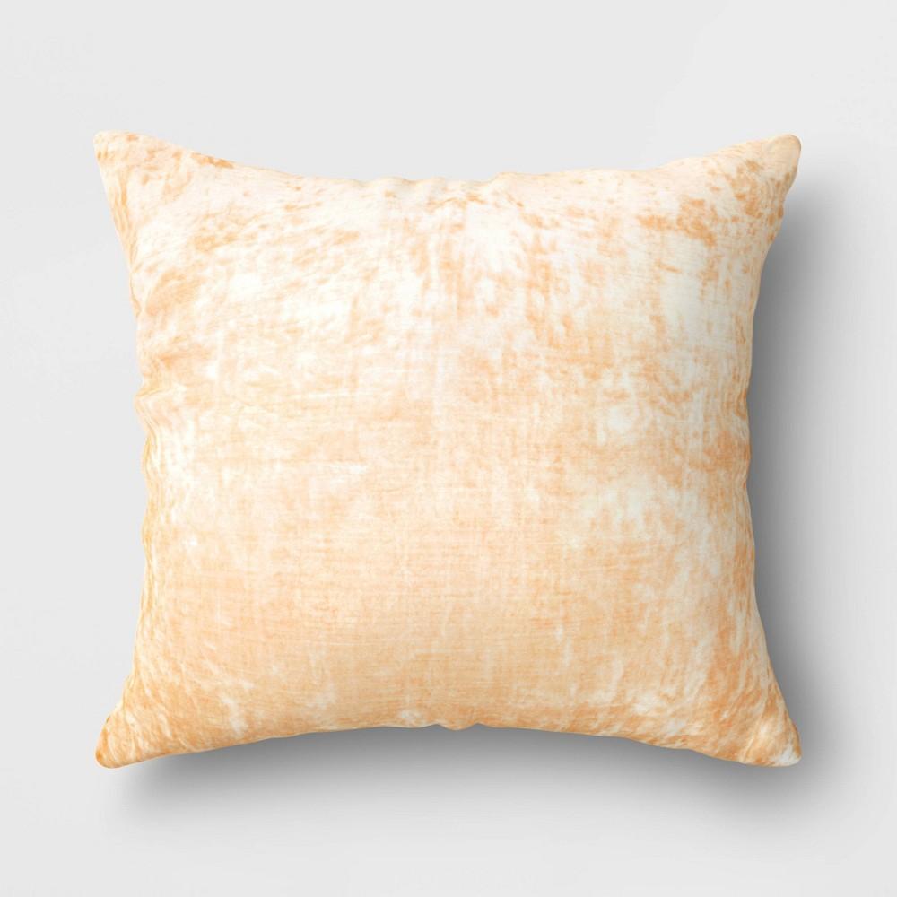 Oversized Velvet Square Throw Pillow Yellow Threshold 8482