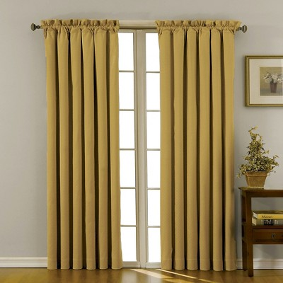 "42""x63"" Canova Room Darkening Window Curtain Panel Gold - Eclipse"